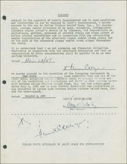 HUME CRONYN - DOCUMENT DOUBLE SIGNED 11/26/1947