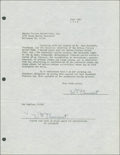 WILLIAM DEMAREST - DOCUMENT DOUBLE SIGNED 06/12/1946
