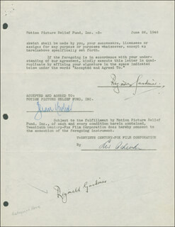 REGINALD GARDINER - DOCUMENT DOUBLE SIGNED 06/26/1946