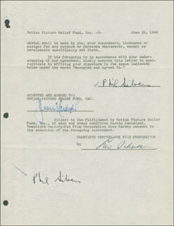 PHIL SILVERS - DOCUMENT DOUBLE SIGNED 06/26/1946