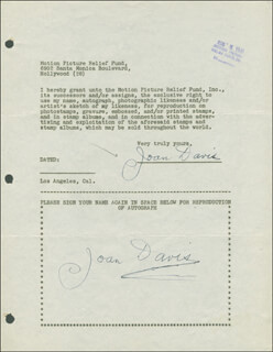 JOAN DAVIS - DOCUMENT DOUBLE SIGNED 08/05/1946