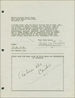 ARTURO DE CORDOVA - DOCUMENT DOUBLE SIGNED 07/02/1946