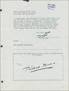 PHILIP DORN - DOCUMENT DOUBLE SIGNED 03/23/1947