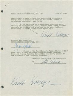 KURT KREUGER - DOCUMENT DOUBLE SIGNED 06/26/1946
