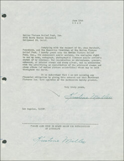 KRISTINE MILLER - DOCUMENT DOUBLE SIGNED 06/12/1946
