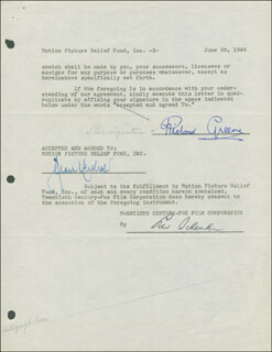 RICHARD GREENE - DOCUMENT SIGNED 06/26/1946