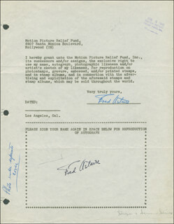 FRED ASTAIRE - DOCUMENT DOUBLE SIGNED 08/05/1946