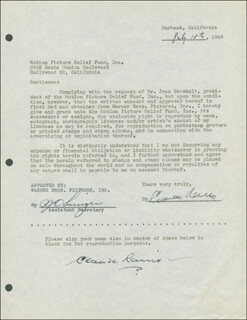 CLAUDE RAINS - DOCUMENT DOUBLE SIGNED 07/18/1946