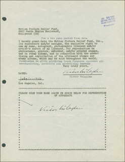 VICTOR McLAGLEN - DOCUMENT DOUBLE SIGNED 07/21/1946  - HFSID 289212