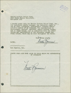 WALTER BRENNAN - DOCUMENT DOUBLE SIGNED 08/05/1946