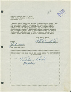 Autographs: WILLIAM HOPPY BOYD - DOCUMENT DOUBLE SIGNED 07/08/1946