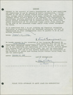 LIONEL BARRYMORE - DOCUMENT SIGNED 11/12/1946