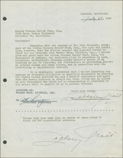 ZACHARY SCOTT - DOCUMENT DOUBLE SIGNED 07/24/1946
