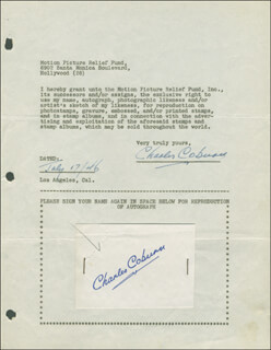 CHARLES D. COBURN - DOCUMENT DOUBLE SIGNED 07/17/1946