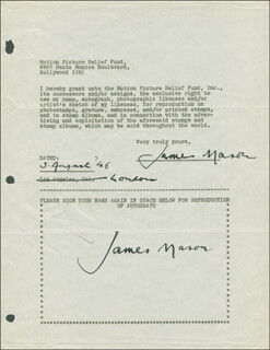 JAMES MASON - DOCUMENT DOUBLE SIGNED 08/03/1946