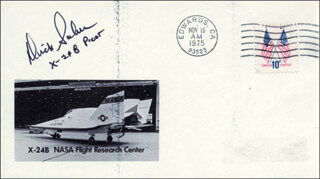 LT. COLONEL DICK (FRANCIS R.) SCOBEE - COMMEMORATIVE ENVELOPE SIGNED