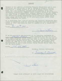 JANET BLAIR - DOCUMENT DOUBLE SIGNED 02/24/1947