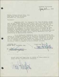 VIVECA LINDFORS - DOCUMENT DOUBLE SIGNED 07/20/1946