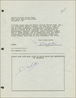 BELITA - DOCUMENT DOUBLE SIGNED CIRCA 1946