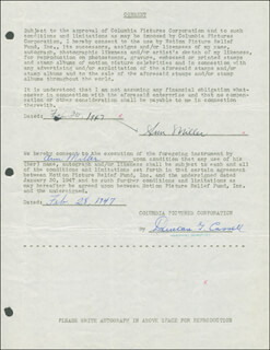 ANN MILLER - DOCUMENT DOUBLE SIGNED 02/24/1947
