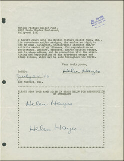 HELEN HAYES - DOCUMENT MULTI-SIGNED 07/24/1946