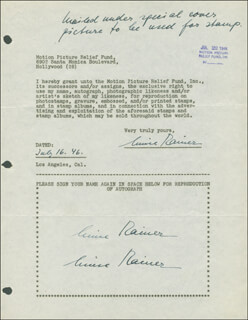 LUISE RAINER - DOCUMENT MULTI-SIGNED 07/16/1946