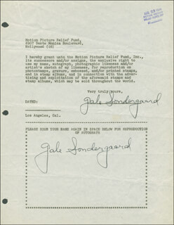 GALE SONDERGAARD - DOCUMENT DOUBLE SIGNED 08/23/1946