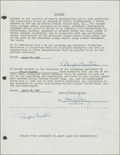 PHYLLIS THAXTER - DOCUMENT DOUBLE SIGNED 08/27/1946