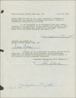 WILLIAM EYTHE - DOCUMENT DOUBLE SIGNED 06/26/1946