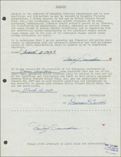NANCY SAUNDERS - DOCUMENT DOUBLE SIGNED 03/03/1947 CO-SIGNED BY: DUNCAN G. CASSELL
