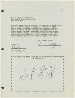 LEO B. GORCEY - DOCUMENT DOUBLE SIGNED 08/05/1946
