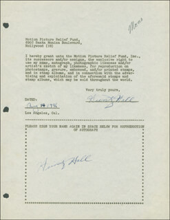 HUNTZ HALL - DOCUMENT DOUBLE SIGNED 08/14/1946