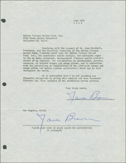 JAMES L. RIP BROWN - DOCUMENT DOUBLE SIGNED 06/12/1946