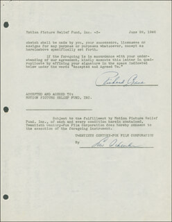 RICHARD CRANE - DOCUMENT DOUBLE SIGNED 06/26/1946