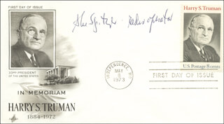 BOCK'S CAR CREW (ABE SPITZER) - FIRST DAY COVER SIGNED