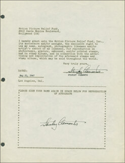 STANLEY CLEMENTS - DOCUMENT DOUBLE SIGNED 05/21/1947