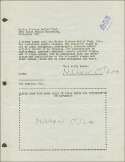 MICHAEL O'SHEA - DOCUMENT DOUBLE SIGNED 07/26/1946