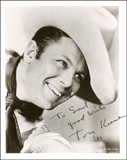 TOM KEENE - AUTOGRAPHED INSCRIBED PHOTOGRAPH 1937