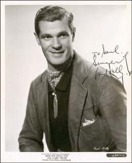 PAUL KELLY - AUTOGRAPHED INSCRIBED PHOTOGRAPH CIRCA 1945