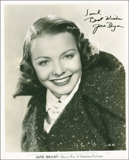 JANE BRYAN - AUTOGRAPHED INSCRIBED PHOTOGRAPH CIRCA 1938