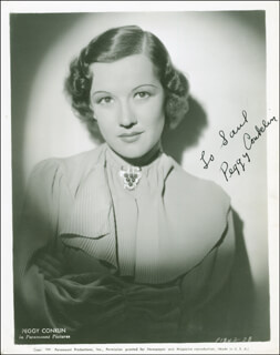 PEGGY CONKLIN - AUTOGRAPHED INSCRIBED PHOTOGRAPH CIRCA 1937