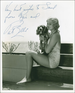 PATRICIA ELLIS - AUTOGRAPHED INSCRIBED PHOTOGRAPH CIRCA 1940