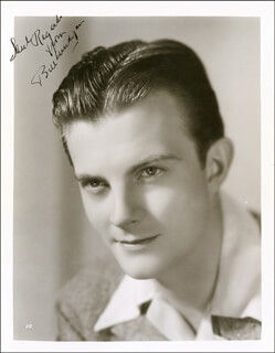 WILLIAM LUNDIGAN - AUTOGRAPHED INSCRIBED PHOTOGRAPH CIRCA 1940
