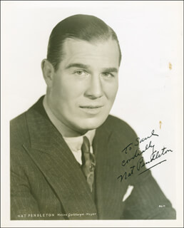 NAT PENDLETON - AUTOGRAPHED INSCRIBED PHOTOGRAPH CIRCA 1937