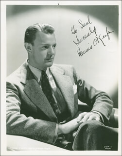 DENNIS O'KEEFE - AUTOGRAPHED INSCRIBED PHOTOGRAPH CIRCA 1940