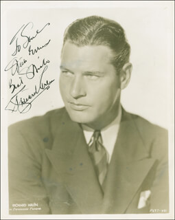 RICHARD ARLEN - AUTOGRAPHED INSCRIBED PHOTOGRAPH