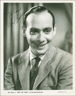 PHIL BAKER - AUTOGRAPHED INSCRIBED PHOTOGRAPH CIRCA 1935