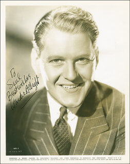 Autographs: HARDIE ALBRIGHT - INSCRIBED PHOTOGRAPH SIGNED CIRCA 1935