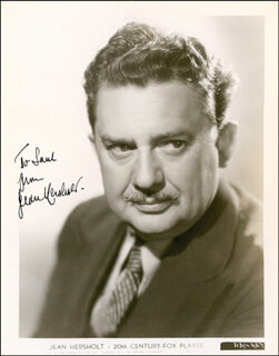 JEAN HERSHOLT - AUTOGRAPHED INSCRIBED PHOTOGRAPH CIRCA 1939