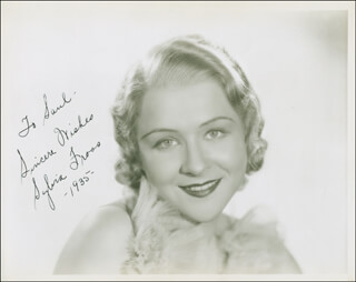 SYLVIA FROOS - AUTOGRAPHED INSCRIBED PHOTOGRAPH 1935